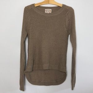 Taupe Knit Hi-lo Sweater